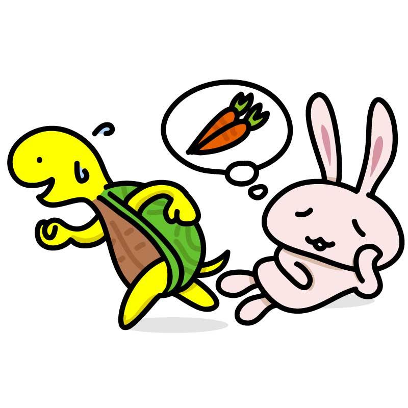 ウサギとカメの話からビジネスのヒントを考える